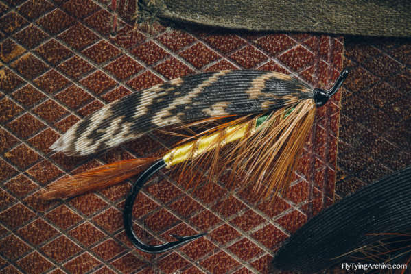Kalkkisten Vaalea, a traditional Finnish trout fly.